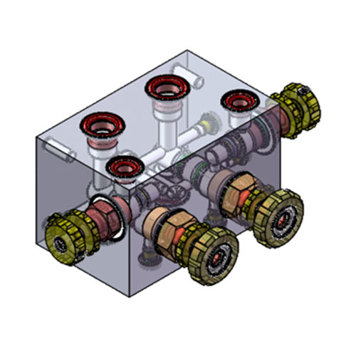 Integrated hydraulic block